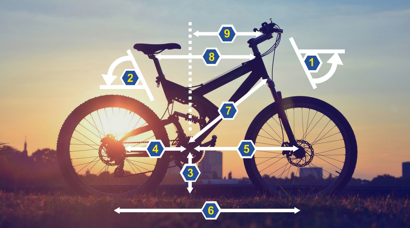 The maths of mountain biking: Lessons in geometry and