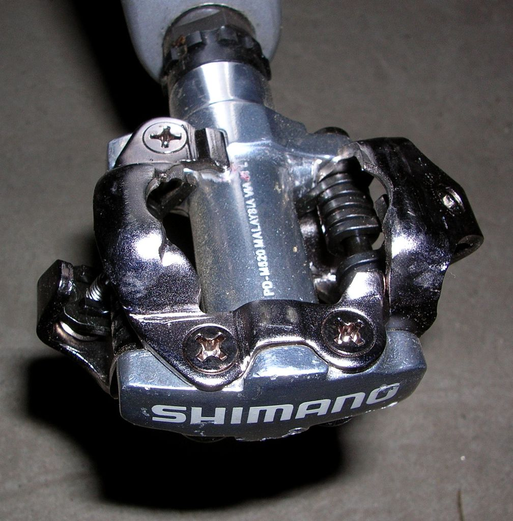 Combination mountain bike pedals