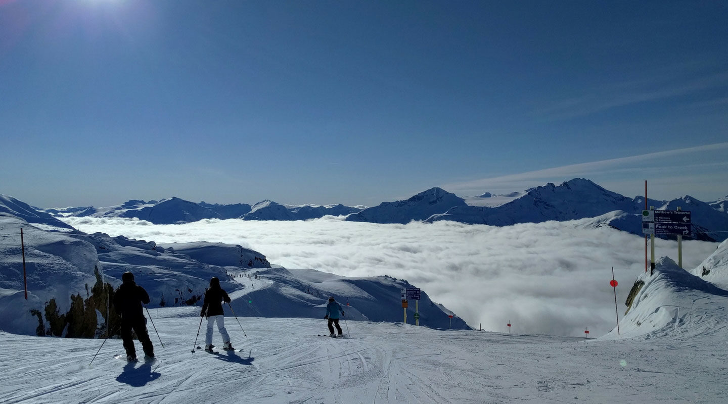 Skiing and snowboarding in Whistler